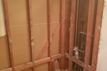 Bathroom after demolition