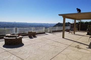 Hardscape Contractor San Diego - Stamped Cement Patio 4
